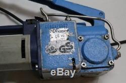230V Bindemaschine Cyklop CE 92 Umreifungsgerät für PET/ PP Band 13mm Bindegerät