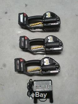 3 Fromm P329 18v 5/8 Strapping Machines with 3 batteries and 1charger WORK Great