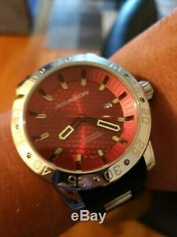 ARAGON Men's 48mm Sports Machine Automatic Silicone Strap Watch