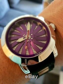 ARAGON Men's 48mm Time Machine Automatic Spinning Dial Silicone Strap Watch