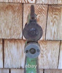 Antique LANDIS Machine LEATHER CUTTER Shoe Strap Cobbler CAST IRON Hand Crank