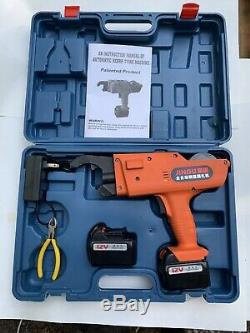 Automatic Handheld Rebar Tier Tool Tying Machine Strapping 8-34mm 13200mAh