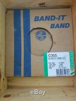 BAND-IT kit 200+ stainless steel buckles 5/8 15.88mm, strap galvanized carbon