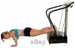 Confidence Fitness Slim Full Body Vibration Platform Fitness Machine Arm Straps