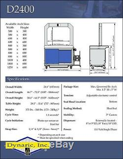 Dynaric D2400 Strapper 2014 Strapping machine High Speed (5mm)