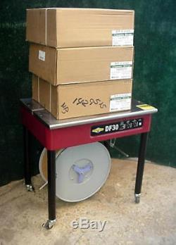 Dynaric DF30 Semi-Automatic Strapping Machine 1/4 5/8 Strap + 4 Rolls Strap