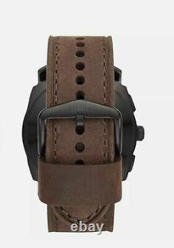Fossil Men's Q Machine Hybrid Stainless Steel SmartWatch, Leather Calfskin Strap