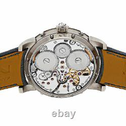 MB&F Legacy Machine Perpetual Manual 44mm White Gold Mens Strap Watch 03. WL. B