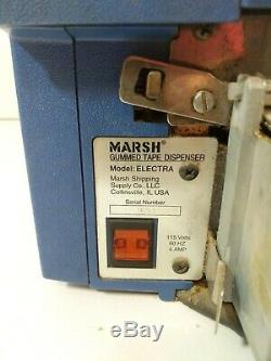 Marsh Electra Electric Gummed Taper Water Activated Tape Dispenser+Cable Blue