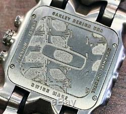 Men's Oakley Minute Machine Full Titanium 43mm Wrist Watch with Leather Strap