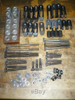 Moore measuring machine, jig grinder, ALUMINUM straps, heel rests, T bolts