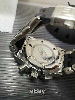 Oakley 12 gauge watch black dial carbon strap gmt mm doubletap minute machine