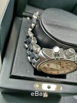 Oakley 12 gauge watch white dial carbon strap gmt mm doubletap minute machine