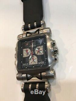 Oakley Minute Machine Black Dial New Leather Strap Black