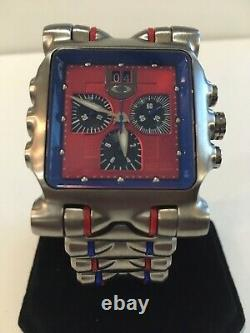 Oakley Minute Machine Custom Red & Blue with Extra Strap