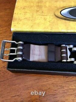 Oakley Minute Machine Leather Watch Strap Only With Buckle Authentic Original