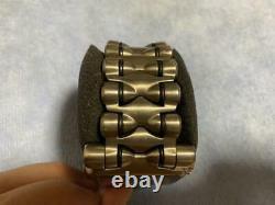 Oakley Minute Machine Quartz Titanium Silver Watch Extra Straps & Box & Papers
