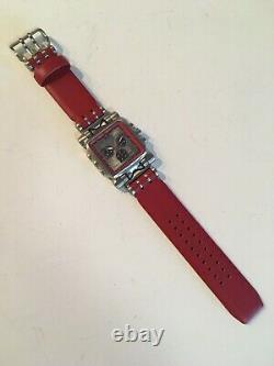 Oakley Minute Machine Red & Silver on Strap