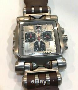 Oakley Minute Machine Silver Dial New Leather Strap Brown