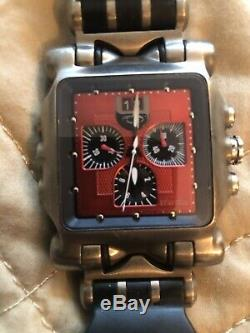 Oakley minute machine watch red face with rubber strap