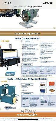 Polychem In-Line Corrugated Bundler/strapping Machine CB3500