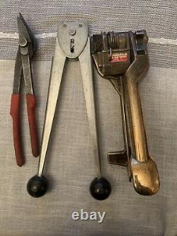SIGNODE Bronze/Brass Strapping Tensioner PFH banding strap tool & Two Others