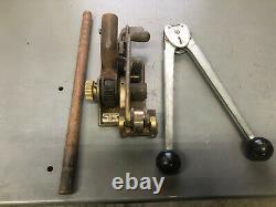 SIGNODE STEEL Racheting STRAP TENSIONER STRETCHER Model 3c11 1/2 Inch WithCRIMPER