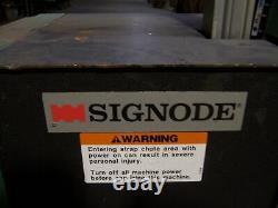 Signode Arch Strapping Machine, Semi-automatic Plastic Bander
