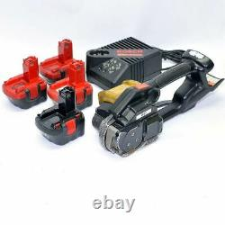 Signode BXT Poly Strapping Banding Tool Battery Powered with Charger + 4 Batteries