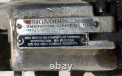 Signode Combination Strapping Tool Model AL 3/8 for 3/8 Metal Banding