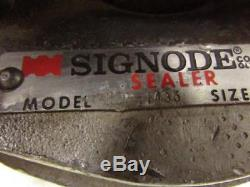 Signode Model NSP-1435 Air Pneumatic Steel Banding Strap Clip Crimper 1-1/4
