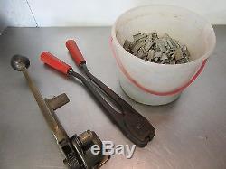 Signode Model ST Tensioner, Crimper, 5/8 Clips Strapping, 3/8-3/4 Pallet tool