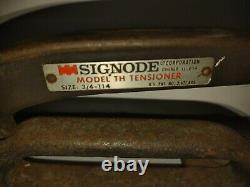 Signode Model TH 3/4-1-1/4 Manual Steel Banding Strapping Ratcheting Tensioner