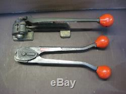 Signode Model T Tensioner Size 5/8 to 3/4 Banding Tool With Crimper C-3423