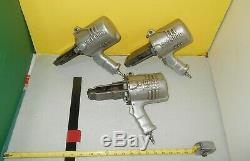 Signode Pistol Grip Pneumatic Banding Seal Crimpers 1-1/4 Used Lot of Three