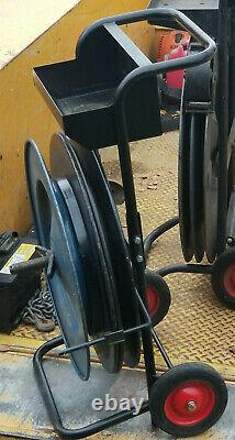 Signode Steel Strapping Banding Cart Holds 2 sizes of steel banding material