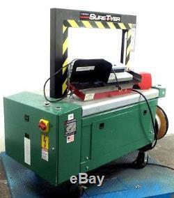 Signode SureTyer Semi Auto Case Strapper withBERINSTEIN BG A-ET92010 Foot Switch