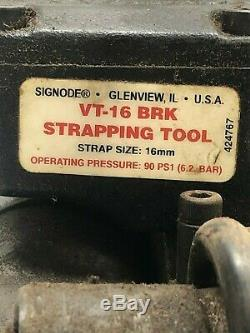 Signode VT-16 BRK Strapping Tool Pneumatic Strapper