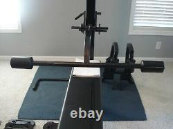 Soloflex Machine With Bench, Floating Arm, Butterfly, Dip Station, Weight Straps