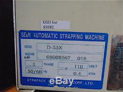 StraPackD-53X Semi-Automatic Strapping Machine With New Roll Of Strap S3382