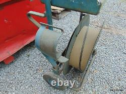 Strapping Banding Dispenser 3/8 to 3/4 In Size Blue Steel Cart