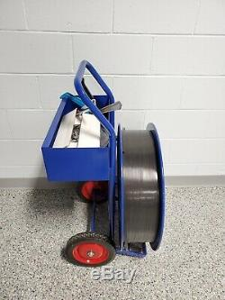 ULINE Poly Strapping Machine WITH TOOLS, POLY STRAP, AND CRIMPS