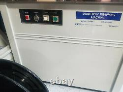 USED ULINE H-959 Strapping Machine working