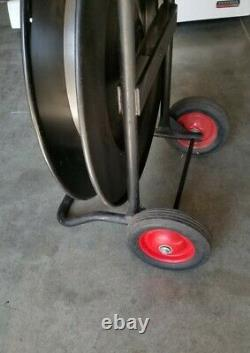 Uline Deluxe Steel Strapping Cart