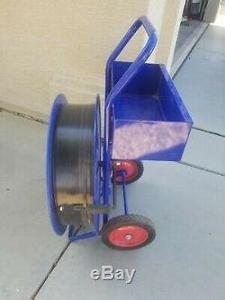 Uline Industrial Strapping Cart H-39 16 Core Steel or Poly Strapping