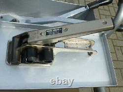Umreifungsmaschine komplett mit Spanner und Schliesser Industriequalität