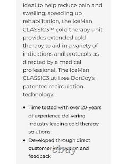 Used Donjoy IceMan Classic3 Cold Therapy Ice Water Machine, New Pad, 3 New Strap