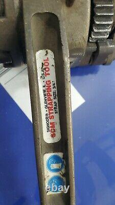 Used Signode SCM-34 Steel Strapping Combo Tool, Sealless