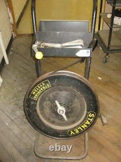Vintage Industrial Steel Strapping Tools and Cart