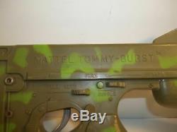 Vintage Mattel Tommy Burst Cap Machine Gun With Strap